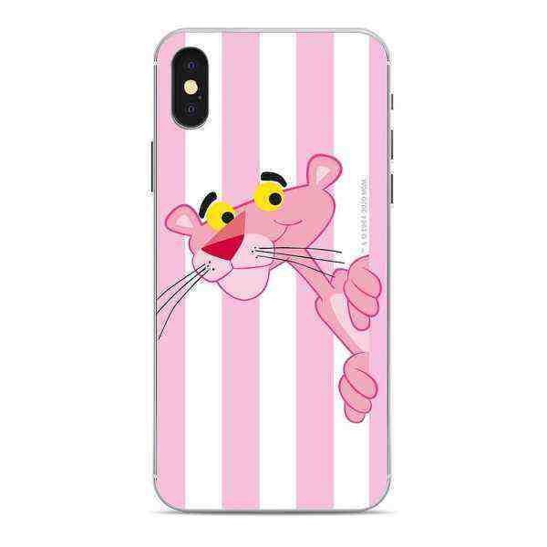 Housse en silicone Pink Pantera & Snoopy Pink Panther sur le Apple iPhone XS Multicolore